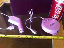 PINK Game Boy Advance Gameboy Gba TERZO Caricabatteria da auto concorrenza PRO