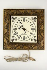 Vintage Seth Thomas General Time Corp Electric Clock Grape Vine Frame Gold Color
