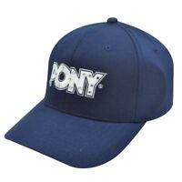 Pony Womens Navy White Rhinestone Hat Cap Flex Fit M Lg