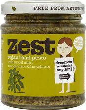Zest alimenti BASILICO PESTO adatto per Vegans 165g (Pacco da 3)