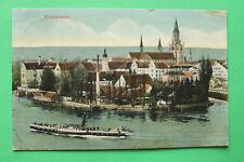AK Konstanz 1911 Ortsansicht Dampfer Neptun Schiff Häuser Gebäude Insel Hotel W7