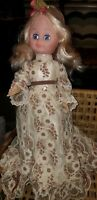"Vintage 1979 Eugene #580 14"" Vinyl baby Doll LACE DRESS ~ WIDE EYES"