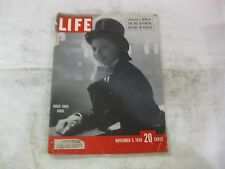 Life Magazine November 6th 1950 Horse Show Rider Cover Published By Time   mg414