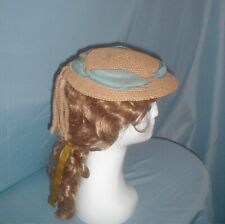 Antique Hat Victorian 1860's Summer Straw Bonnet Unique Trim