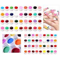 36 Pot Pure Glitter Colors UV Gel Nail Art Tips Cover Extension Manicure Decor