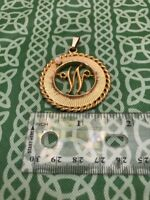 """House Of Schrager 1958 Monogram """"W"""" Initial Necklace Pendant FREE SHIPPING"""