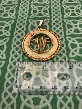 "House Of Schrager 1958 Monogram ""W"" Initial Necklace Pendant FREE SHIPPING"