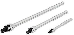 """Craftsman 1/4"""" 3/8"""" 1/2"""" Polished Breaker Bar Flex Handle Long You Pick Size"""
