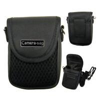 Compact Camera Case Universal Soft Bag Pouch + Strap Black 3size FG