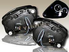 00 01 02 03 04 05 Mitsubishi Eclipse Headlights Black 2 Halo LED 2005 2004 2003