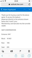 Manchester United vs arsenal ticket for 29 of April 2018
