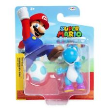 "Super Mario Light Blue Yoshi with Egg 2.5"" Figure New in Package"