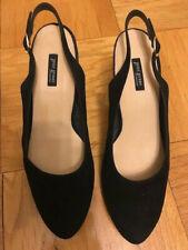 NEW Paul Green black suede Slingback heels pump, platform 10US