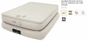 Aerobed Pillowtop 24-Inch Twin Air Mattress with USB Charger