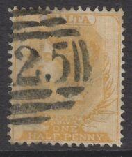 Malta - 1863/81, 1/2d Buff - Wmk Crown CC - Perf 14 - A25 Cancel - SG 4 or 11