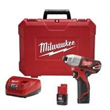 NEW MILWAUKEE 2462-22 M12 12 VOLT CORDLESS IMPACT DRILL DRIVER KIT SET SALE