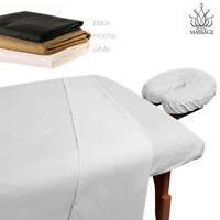 MASSAGE TABLE 100% MICROFIBER FITTED SHEET SET - 3pc SHEETS SET - 3 COLORS