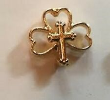 Shamrock with Cross Lapel Pin (2 pieces)