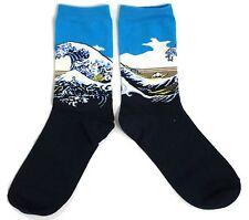 Dames La Grande Vague De Kanagawa Hokusai Sea Chaussettes Surf Taille Unique