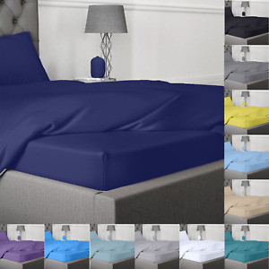 Fitted Sheet Bed Sheets 400TC Egyptian cotton Single Double King Super King Size
