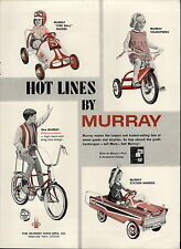 1967 PAPER AD Murray Pedal Car Fire Ball Race Car Station Wagon Banana Seat Bike