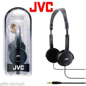 JVC HA-L50 BLACK Foldable Lightweight Stylish Stereo Headphones Brand New