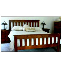 BANKSIA QUEEN TIMBER BED FRAME WITH MATCHING FOOT IN WALNUT