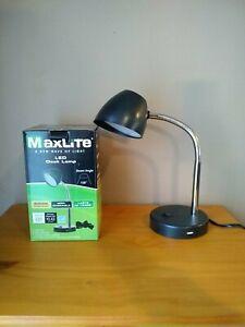 MaxLite LED Desk Lamp with USB Charging Port Adjustable Neck switch On/Off  L75