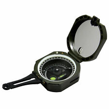 Professional Geological Lightweight Military Compass 0-360° Scale Green Color