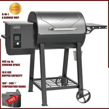 ASMOKES' Wood Pellet Grill Smoker BBQ Patio Grilling Barbecue 8-In-1 Versatility