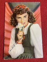 Vintage RPPC Paulette Goddard Postcard 1940's Hollywood Star Autographed Back