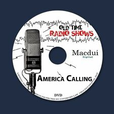 America Calling Old Time Radio Shows Historical 2 OTR MP3 Audio Files 1 Data DVD