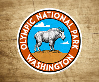 "Olympic National Park Washington Decal Sticker Vinyl Mountain Goat Vintage 3"""