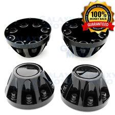 "08-10 GMC Sierra DUALLY Model Black 17"" 2x REAR set Wheel Center Hub Cap Cover"