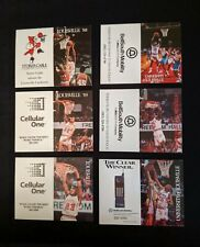 1988 to 1995 University of Louisville Basketball Pocket Schedules - Lot of 6