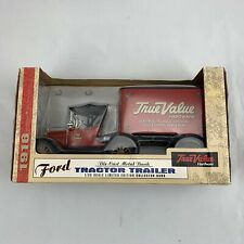 Ertl Diecast Ford 1918 Tractor Trailer-True Value Hardware-Bank-Limited Edition