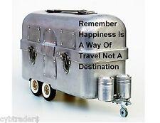 Vintage Travel Trailer Lunch Box  Photo Art  Refrigerator / Tool  Box  Magnet