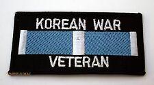 KOREAN WAR VETERAN PATCH MILITARY SERVICE RIBBON US ARMY NAVY MARINE AIR FORCE