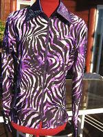women L 38/40 Purple Horsemanship showmanship western rail pleasure show shirt