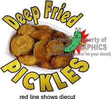"12"" X 12""  DEEP FRIED PICKLES  NEW VINYL DECAL FULL COLOR GRAPHIC"