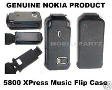 Genuine Nokia 5800 XpressMusic PU Leather Flip Case Pouch Cover + Camera Cutout