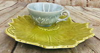 Vintage Woodfield MFG. by Stuebenville Yellow Leaf Plate & Blue Mug
