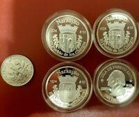 Silver PESETA AGUAS BUENAS 2009 Puerto Rico Boricua Quarter 1//100 Plata