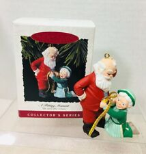 1993 Mr And Mrs Claus #8 A Fitting Moment Hallmark Christmas Tree Ornament Box