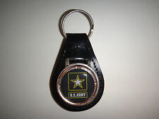 US Army IN Rilievo Emblema pelle Nera Portachiavi New