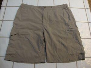 Columbia Hybrid Hiking Shorts Beige Omni Shade Cargo 6 Pockets 10L Mens Size 36