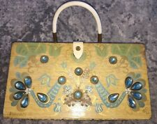 Enid Collins of Texas Wood Box Bag Purse Pavan II ~ 1963 Vintage Bejeweled Retro