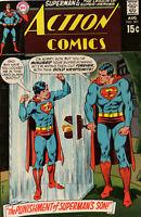 Superman Action Comics 391 DC 1970 VG FN Legion Of Super-Heroes Kryptonite