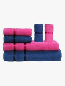 Towels Story Home Microfiber Bath and Hair Towel Set Six Piece Uses Only Water