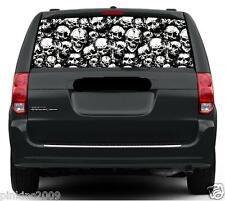 Skulls Galore Black and White Car Rear Window Vehicle Graphic Sticker / Decal